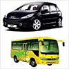 Coches y autobuses
