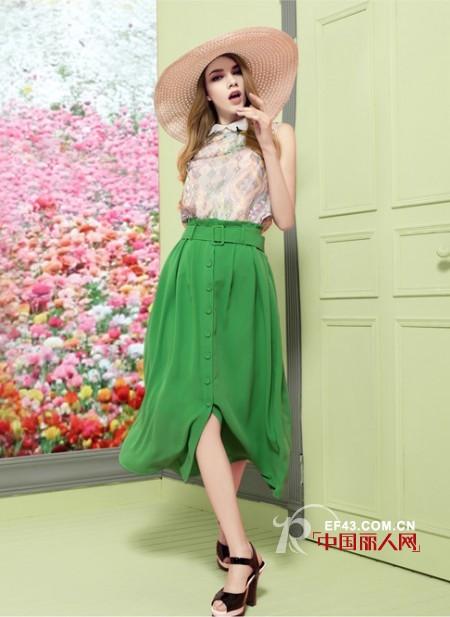 2015春夏半身长裙怎么搭配