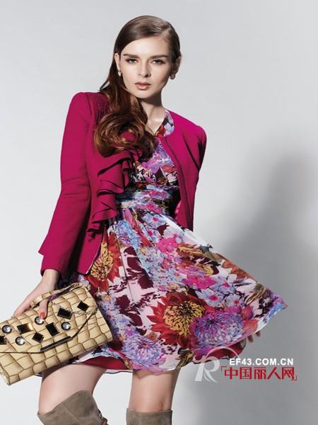 卡特丽女装 渲染印花风彰显民族风