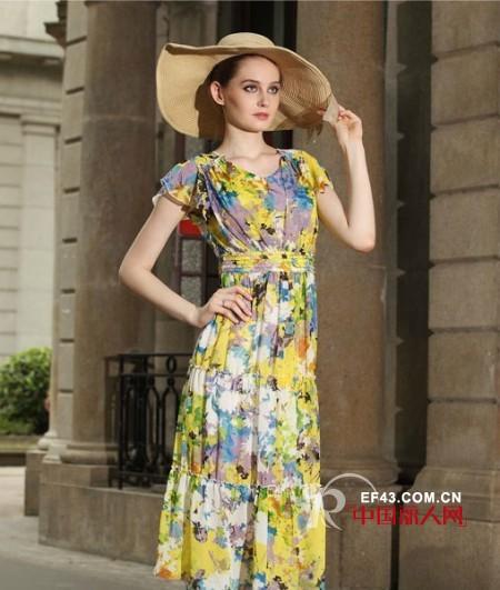 Rang-Ai女装2013新款 印花裙邀您炫彩一夏