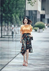 ARIOSE years Ano Sylvia Women's 2018 Summer New Street Fashion Collection