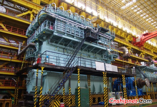 Dalian Shipai's first 7S80MEC host successfully passed the inspection