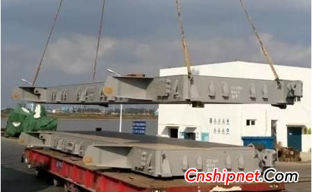 Nantong COSCO Heavy Industries successfully delivered two sets of 61KBC bulk cargo hatch covers