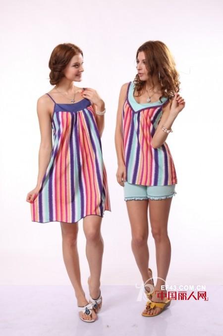 夏季时尚家居睡衣 夏天睡衣什么面料比较舒服