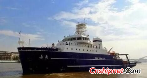 """711 provides a complete set of main propeller shaft propeller systems for the """"Jia Geng"""" scientific research ship"""