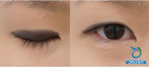 Eye shadow + false eyelashes Six steps make you a charming double eyelid