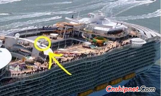 "PALFINGER MARINE collapsible knuckle crane is equipped with the world's largest cruise ship ""Ocean and Yue"""