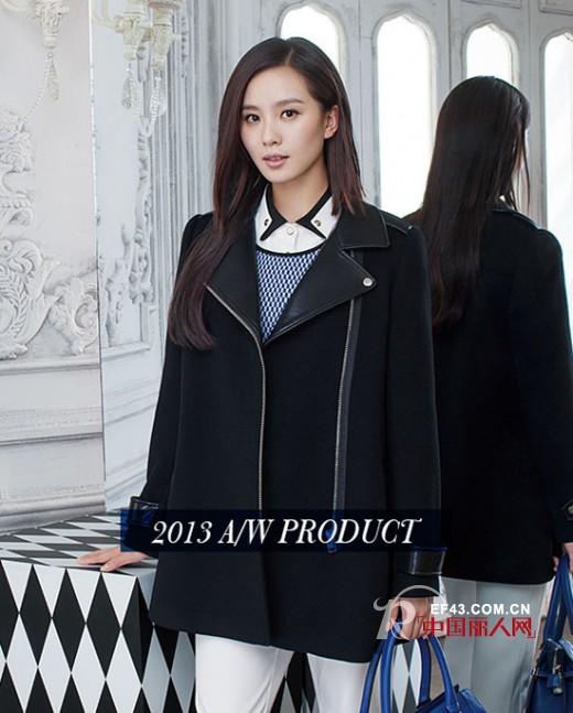 伊芙丽2013冬装新款 刘诗诗拍摄2013新款呢子大衣广告
