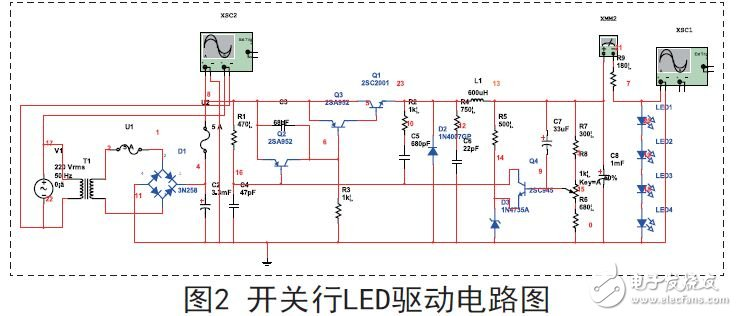 Switch type drive circuit schematic