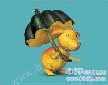 Fruit and vegetable handmade - puppy umbrella