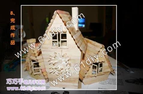Ice sticks handmade small house