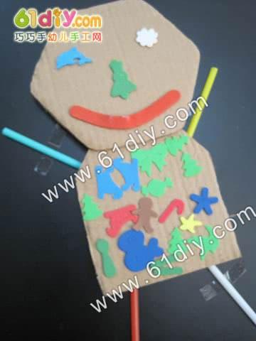 Super fun and cute corrugated cardboard villain