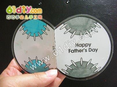 Father's Day Handmade - Baseball Glove Card