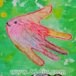 Palm fish handmade
