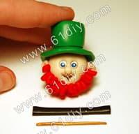 Clay making Irish dwarf