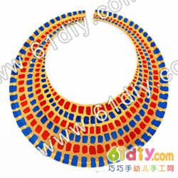 Paper tray handmade ancient Egyptian collar (necklace)