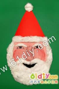 Paper tray santa claus mask