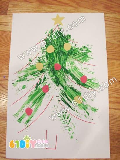 Tree branch drawing christmas tree