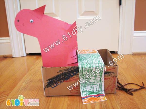 Waste carton making pony