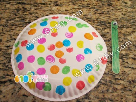Kindergarten small handmade - paper plate snail