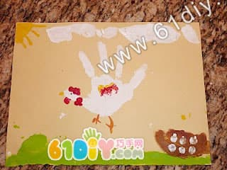 Chick hand print