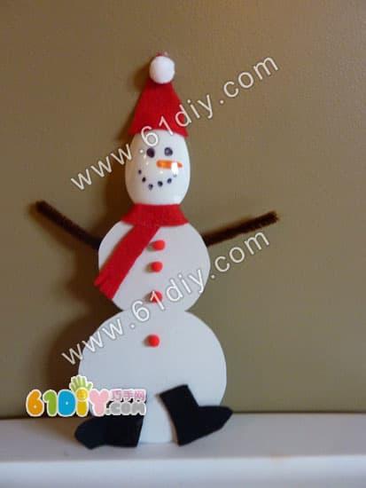 Spoon handmade - snowman