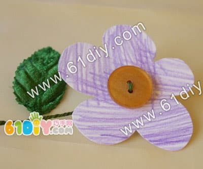 Button flower handmade