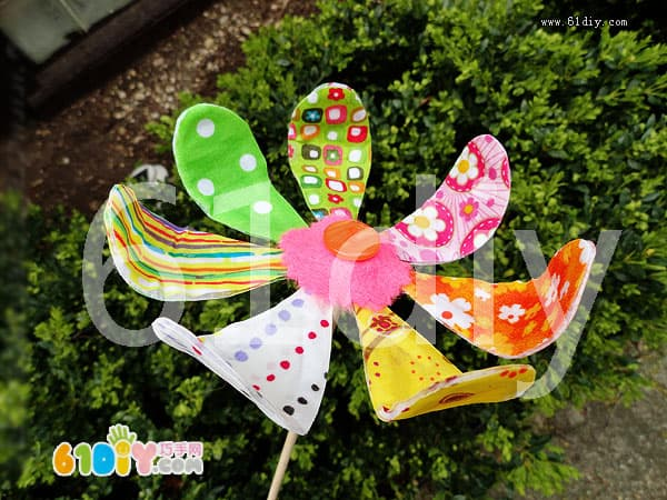 Colorful flower making tutorial