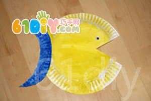 Disposable paper plate fish handmade