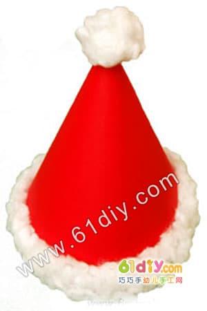 Christmas hat handmade method