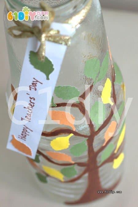 Handmade glass bottles