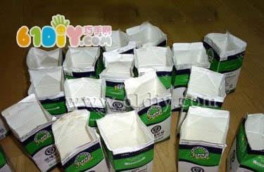 Milk box making socks storage box