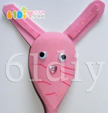 Wooden spoon handmade - rabbit