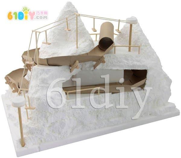 Foam snow mountain handmade