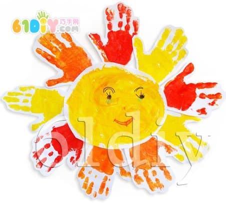Handprint handmade - the sun