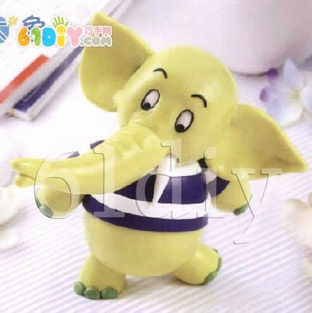 Clay elephant handmade