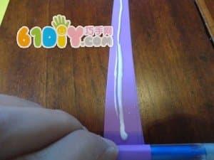 Paper bracelet handmade