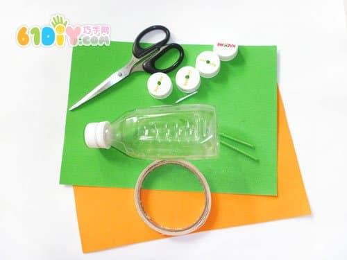 Plastic bottle making car