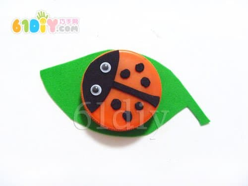 Beverage bottle cover handmade ladybug
