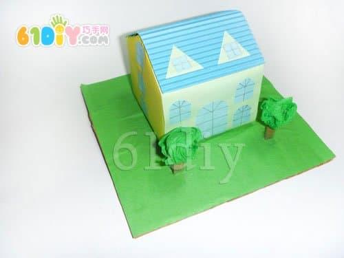 Milk box villa handmade