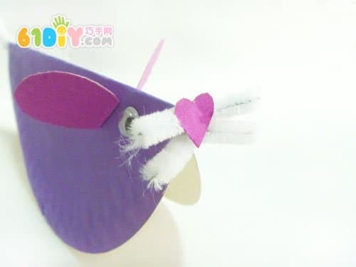 Handmade little mouse in paper tray