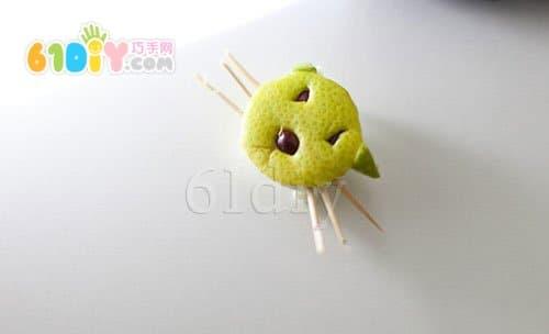 Grapefruit skin small animal handmade collection