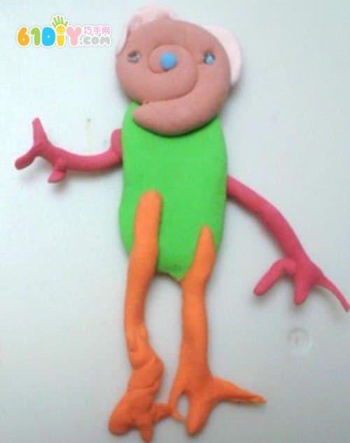 Color mud handmade - alien