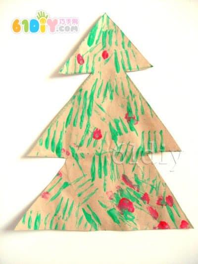 Christmas tree doodle handmade