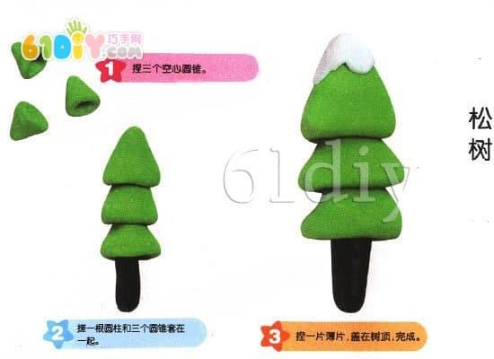 Arbor Day Handmade - Plasticine made of pine