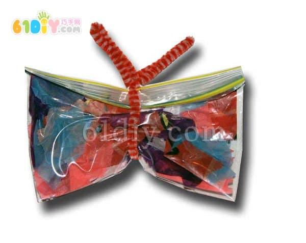 Children's spring handmade butterfly