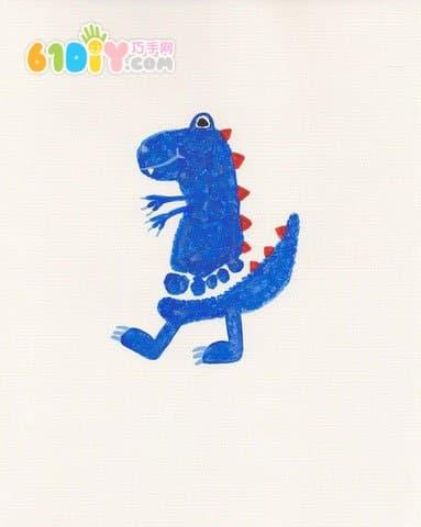 Cute and interesting creative footprints - dinosaurs