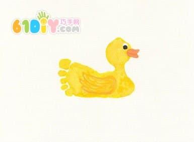 Cute and interesting creative footprints - ducklings