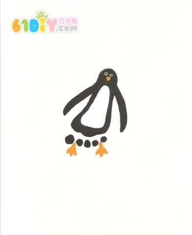 Cute and interesting creative footprints - penguins