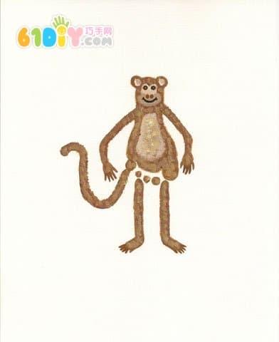 Cute and interesting creative footprints - monkey
